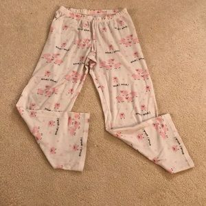 Old Navy Size 14 Drawstring PJ Bottoms Pig Print